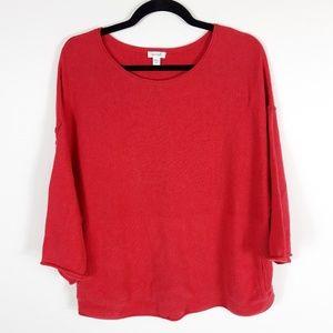 Pure Jill Kimono Cashmere Cotton Blend Sweater